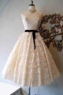 Dress bridal gown inspiration from etsy lace eyelit 1950s black sash