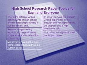 Research Paper Ideas For High School by Research Paper Topics For High Schoolers Pgbari X Fc2
