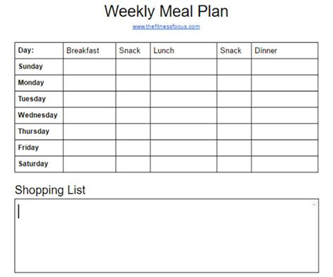 printable meal prep plan how to meal plan the first step to meal prep the
