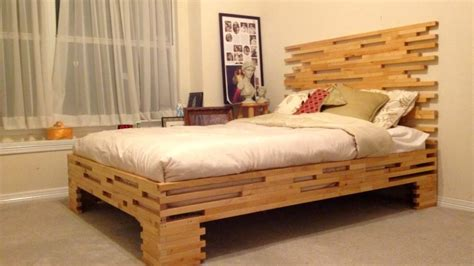 Wood Bed Frame Design Rustic Bed Frame Plans In More Attractive Design Laluz Nyc Home Design