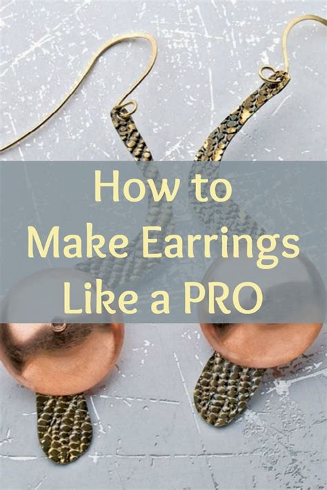 learn to make jewelry at home 17 best ideas about how to make earrings on