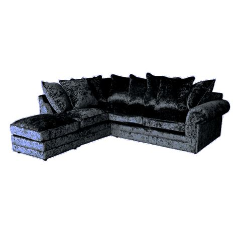 hton chesterfield corner sofa crushed velvet furniture sofas beds chairs cushions