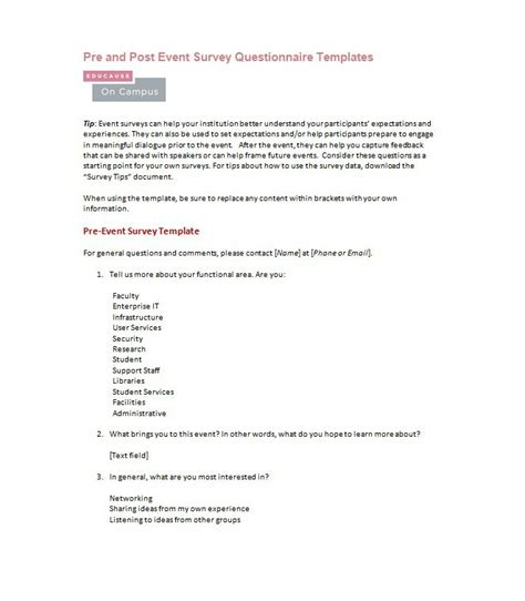 Cover Letter Exles Questionnaires 30 Questionnaire Templates Word Template Lab