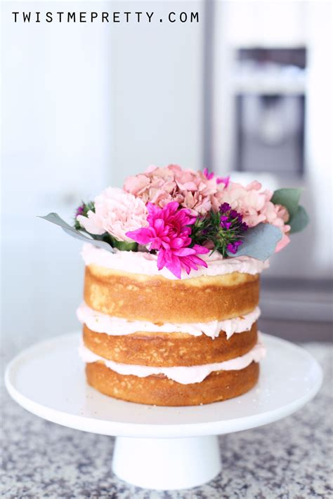 easy naked cake tutorial  beginners twist  pretty