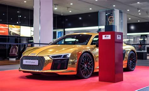 audi r8 gold gold audi r8 v10 plus is quite a sight