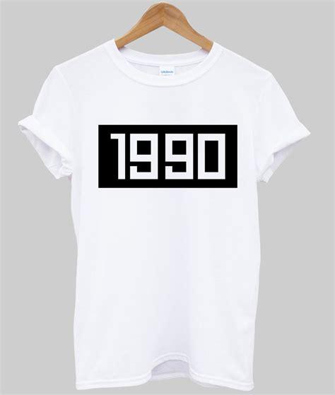 Kaos Typography 03 Ordinal Apparel 1990 tshirt