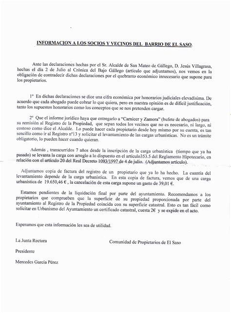 carta autorizacion junta vecinos el de san mateo de g 225 llego carta de la junta rectora de la asociacion de propietarios de