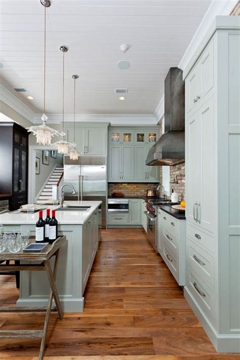 Coastal Kitchen Cabinets Coastal Kitchen Green Cabinets Design Cabinets Islands And Cabinet Colors