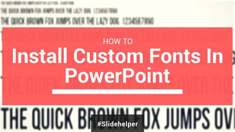 Learn How To Install Custom Fonts For Powerpoint Templates How To Install Powerpoint Templates