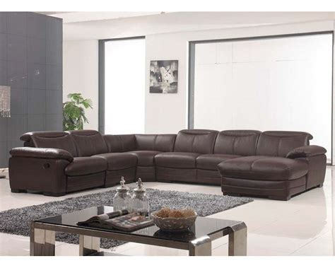 Brown Reclining Sectional Sofa Sectional Sofa W Recliner In Brown Finish 33ls311