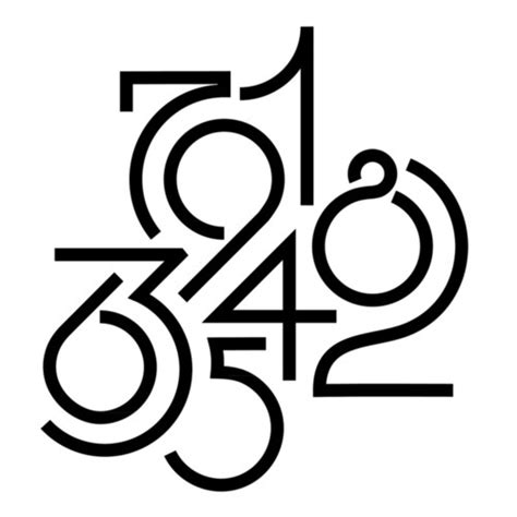 designspiration numbers best typography lettering tiefgang numbers design images