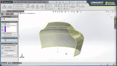 solidworks flat pattern solidworks flat pattern for conical bodies cimquest 2