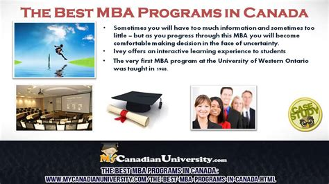 Mba Universities In Canada by The Best Mba Programs In Canada