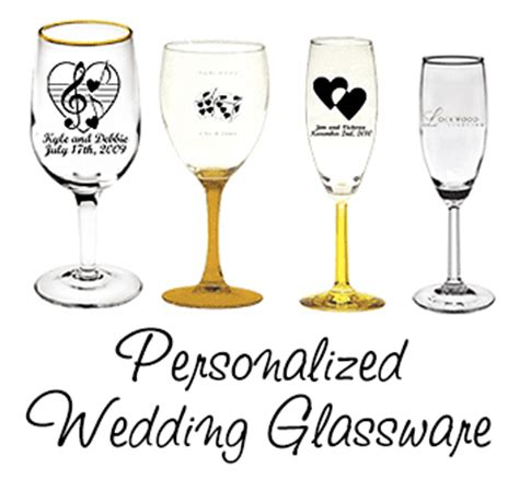 Wedding Gift Glassware by Personalized Chagne Glasses Personalized Chagne