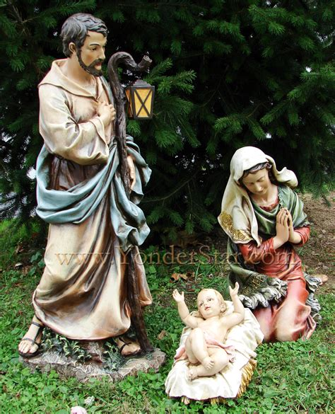 39 quot large outdoor nativity set 3 pcs christmas