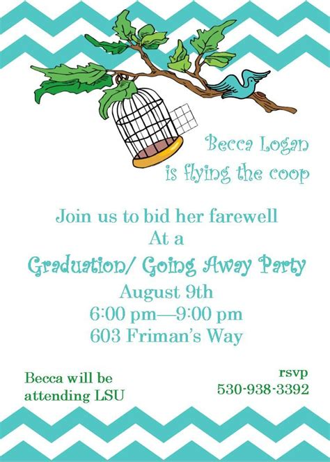 Going Away Party Invitations Flying The Coop Farewell Going Away Invitations Pinterest Going Away Flyer Template Free