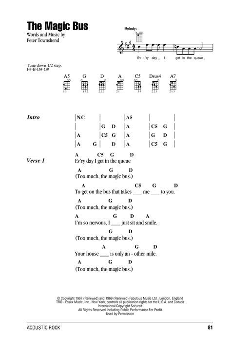 strumming pattern rude magic tablature guitare the magic bus de the who ukulele