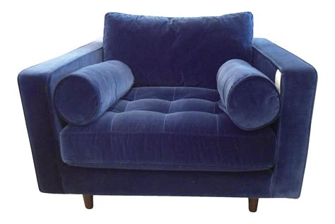 navy blue armchair navy blue velvet armchair chairish