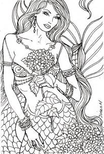 mermaid coloring pages for adults 458 best images about coloring pages on