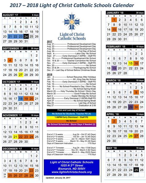 Bismarck School Calendar 2017 2018 School Calendar St S Central High School