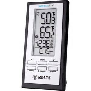 meade te278w wireless indoor outdoor thermometer with