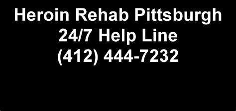 Pittsburgh Detox Facilities by Heroin Rehab Pittsburgh