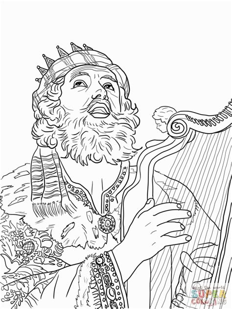 coloring pages of king david bible coloring pages king david coloring home