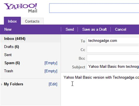 Mail Yahoo Basic | how to use basic version of new yahoo mail technogadge