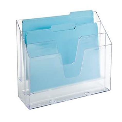 3 Section Container by Clear 3 Section Vertical File The Container Store