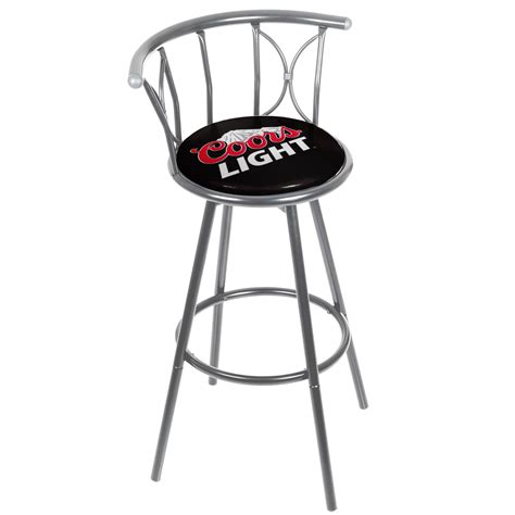 Coors Light Padded Bar Stool by Coors Light Weatherproof Padded Outdoor Bar Stool Silver