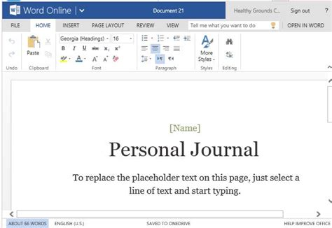 journal layout word personal journal template for word online