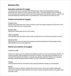 free buisness plan template sle business plan 6 documents in word excel pdf