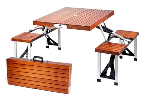 Portable Picnic Table by Portable Wooden Picnic Table With Storage