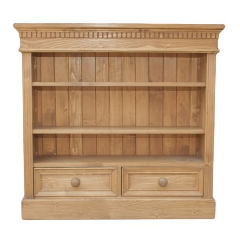 2 Wide Bookcase by Solid Wood Interiors Gt Pine Bookcase Small Wide 2 Shelves