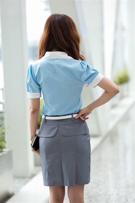 Jual Rok Kerja Pendek kemeja kerja wanita import putih lengan pendek model