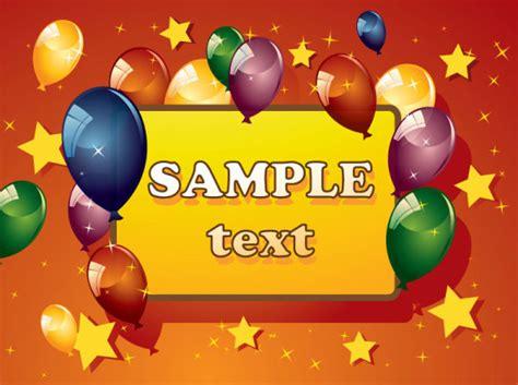 Kartu Ucapan Kecil Motif Kartun Small Card Birthday Card Hpa050 kata kunci kartun kartu ulang tahun kartu ucapan balon meriah happy bintang vektor bahan