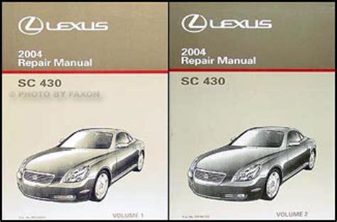 auto repair manual online 2003 lexus sc parking system 2004 lexus sc 430 navigation system owners manual original