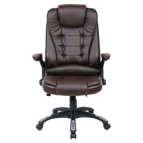 desk recliner chair rio brown luxury reclining executive office desk chair