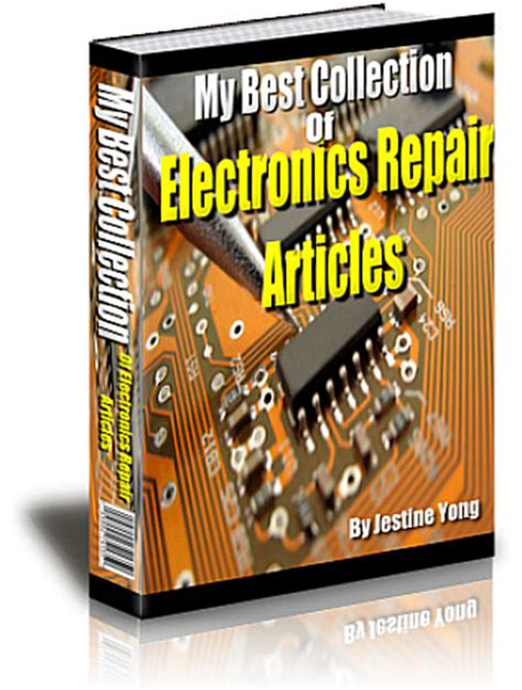 mend books electronic repair troubleshooting tips and secrets for