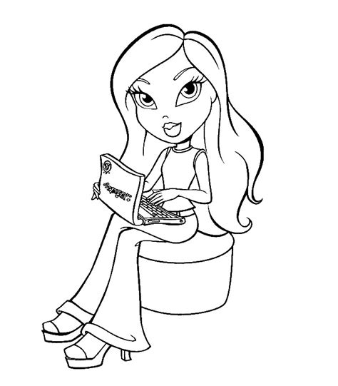 coloring page bratz coloring pages 15