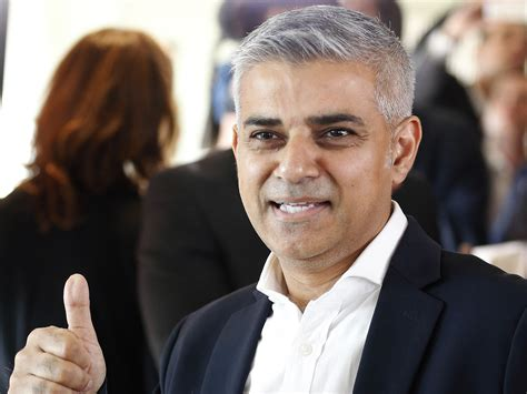 elected mayor sadiq khan whose was a driver in for more than 25 years