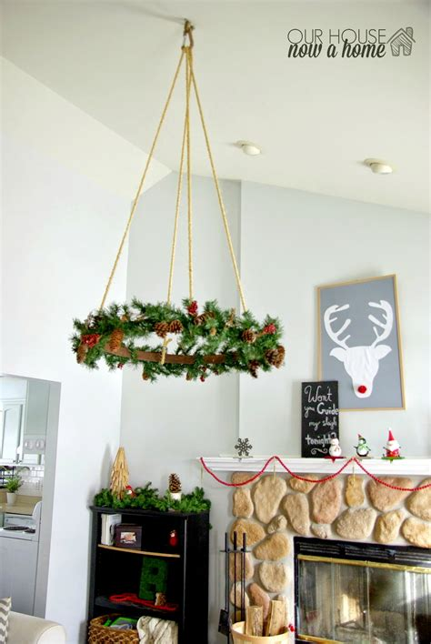 christmas home decor 2014 ceiling hanging christmas wreath our house now a home