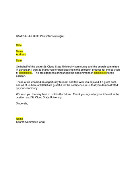 Regret Letter best photos of sle regret letter for rfp business regret letter sle letter of intent