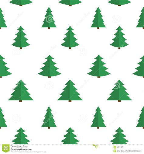 pattern background flat christmas flat tree seamless pattern background stock