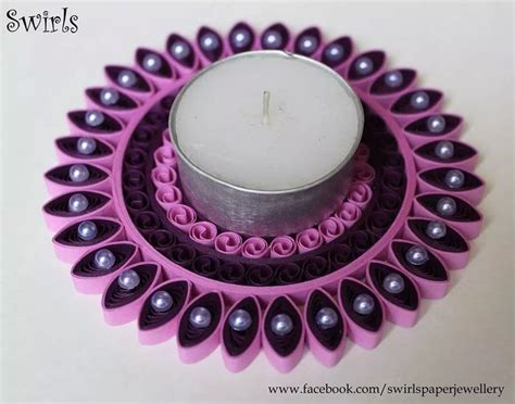 Quilling Lackieren by Quilled Candle Holder Quilling Pinterest Led Kerzen