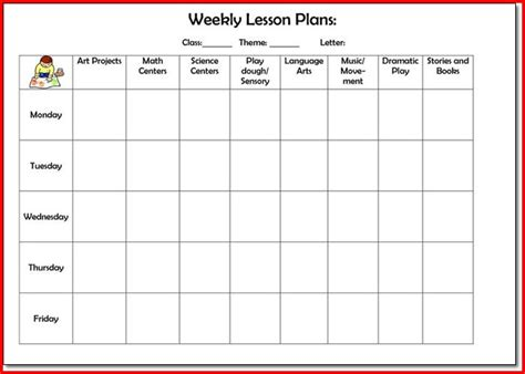 creative curriculum preschool lesson plan template preschool weekly lesson plan sle project