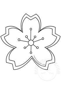 Blossom Template by Cherry Blossom Flowers Coloring Pages