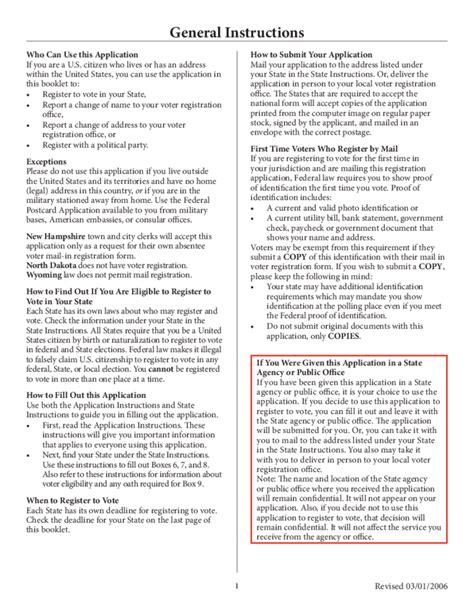 voter registration form national voter registration form the u s election
