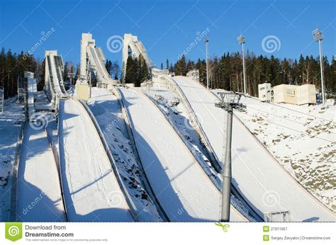 design of ski jump hill ski jumping hill royalty free stock photography image