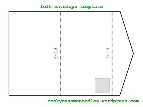 felt envelope tutorial cook you some noodles